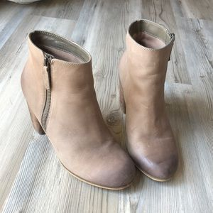BP Ombré Leather Ankle Boots with zipper